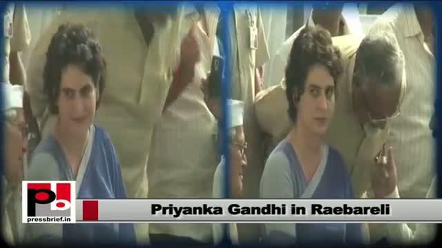 Priyanka Gandhi visits Raebareli with Sonia Gandhi
