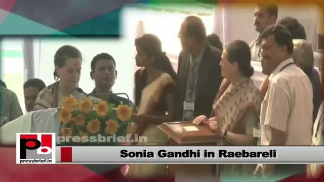 Sonia Gandhi in Raebareli with Priyanka Gandhi; launches Rail wheel factory