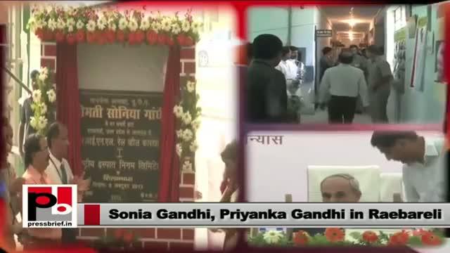 Sonia Gandhi with Priyanka Gandhi in Raebareli; kick-starts new projects