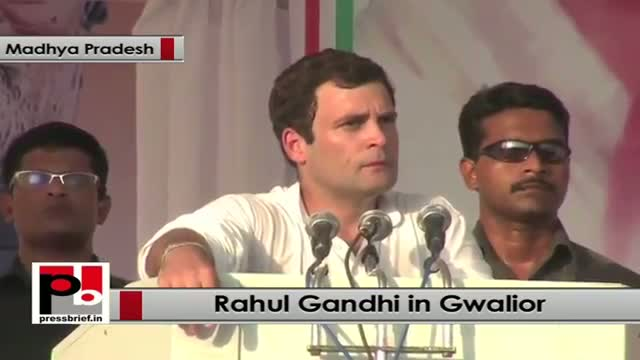 Rahul Gandhi in Gwalior: No development possible till youth are empowered