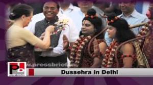 Sonia Gandhi during Dussehra celebrations in New Delhi