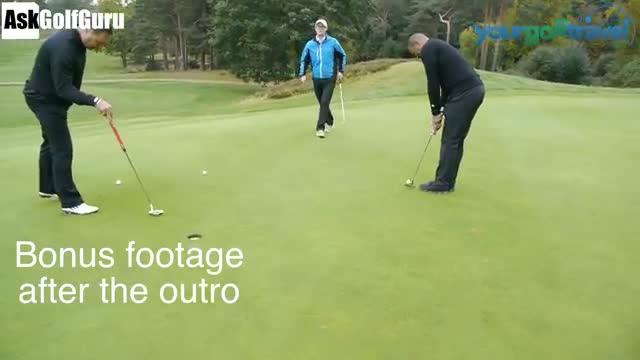 Golf Football Putting Challenge With David Seaman Les Ferdinand