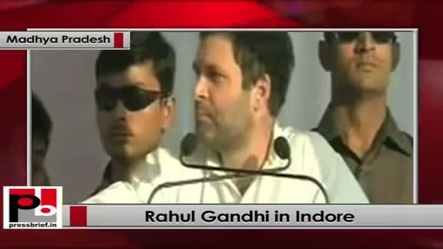 Rahul Gandhi Speaks at Congress rally in Indore (Madhya Pradesh)