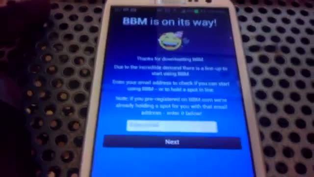 how to use bbm on android