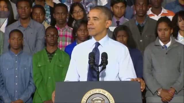Obama Stresses Link Between Education, Economy