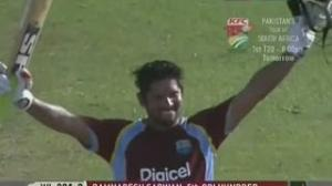 Ramnaresh Sarwan 120* West Indies v Zimbabwe 2nd ODI at Grenada 2013