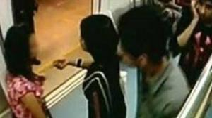 CCTV suggests $exual harassment of girl on Bangalore metro