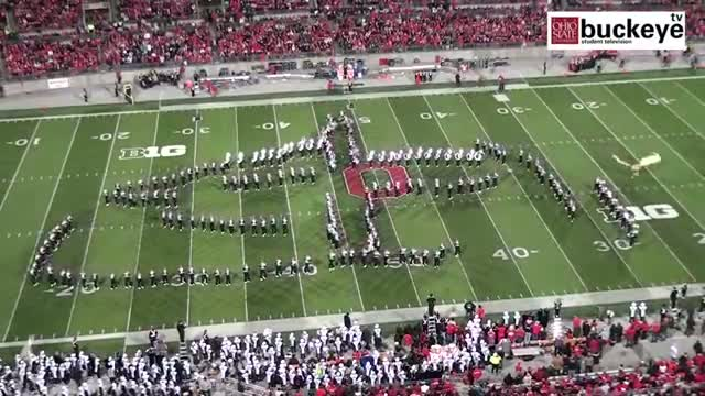 """Ohio State Marching Band """"Hollywood Blockbusters"""" Themed Halftime Show vs Penn State - 10/26/13"""