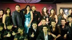 Nach Baliye 6 Launch : Contestants with Shilpa Shetty, Terence Lewis & Sajid Khan