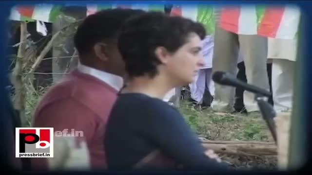 Priyanka Gandhi visits Raebareli to boost Congress workers