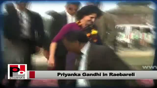 Priyanka Gandhi on a two-day visit to Sonia Gandhi's Parl. constituency Raebareli