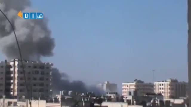 Shelling, Heavy Smoke From Syrian Cities