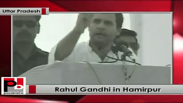 Rahul Gandhi addresses Congress rally in Hamirpur (Uttar Pradesh)