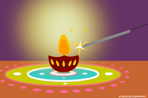 Happy Diwali 2013 Lighting Animation