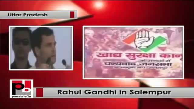 Rahul Gandhi in Salempur (UP) targets SP and BJP, lauds UPA policies
