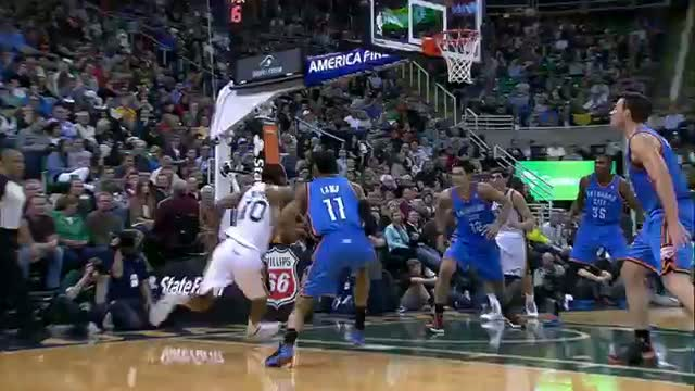 NBA: Alec Burks With the High-Flying Circus Reverse