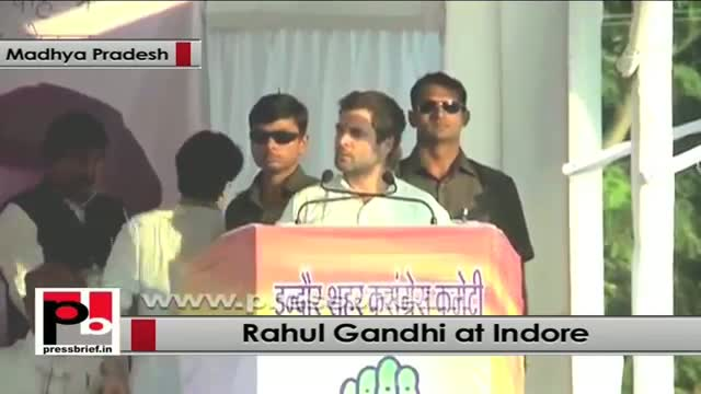 Rahul Gandhi in Indore: Voices of the people are suppressed in MP