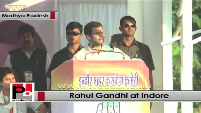 Rahul Gandhi in Indore (MP): It is the people who bring in development with their efforts