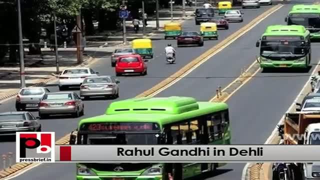 Rahul Gandhi in Delhi praises development initiatives of Sheila Dixit led Congress government
