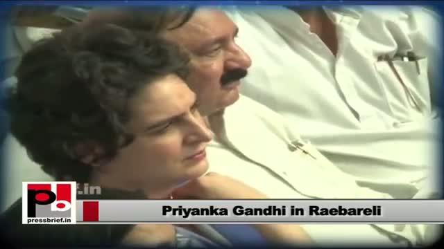 Priyanka Gandhi in Raebareli asks Congressmen in Raebareli to spread UPA policies