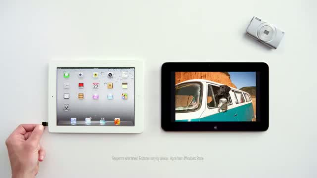 Dell Tablet vs. iPad Windows 8 TV Commercial Ads