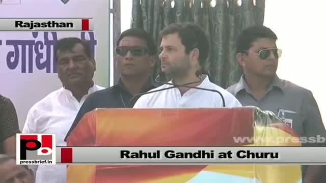 Rahul Gandhi in Churu (Rajasthan) slams BJP's divisive politics