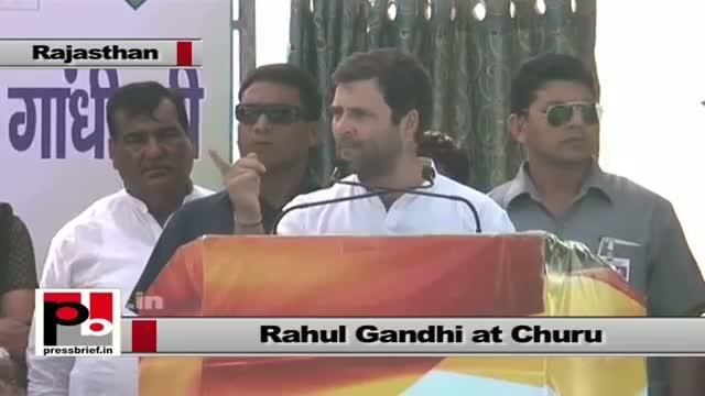 Rahul Gandhi in Churu (Rajasthan) praises Gehlot led state govt.