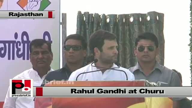 Rahul Gandhi in Churu (Rajasthan) talks about proposed industrial corridor