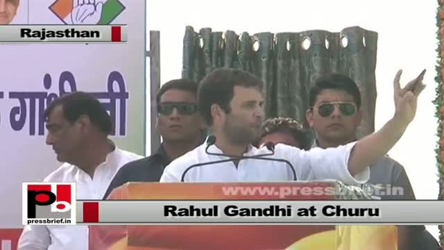 Rahul Gandhi in Churu (Rajasthan): Doors of politics should be open for common people