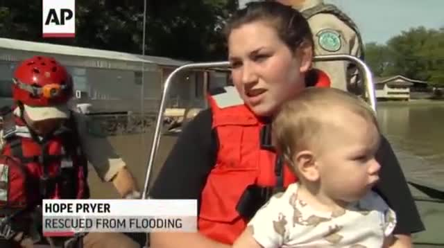 Baby and Mom Rescued From Texas Floods
