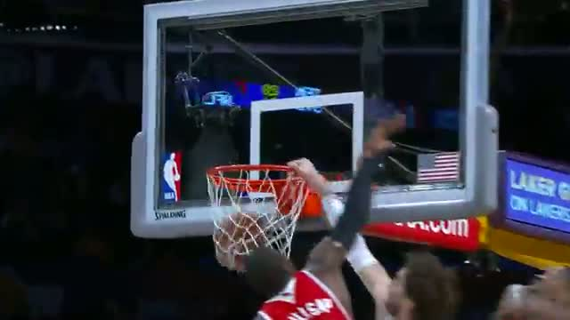 NBA: Pau Gasol SLAMS IT Over Two Hawks Defenders