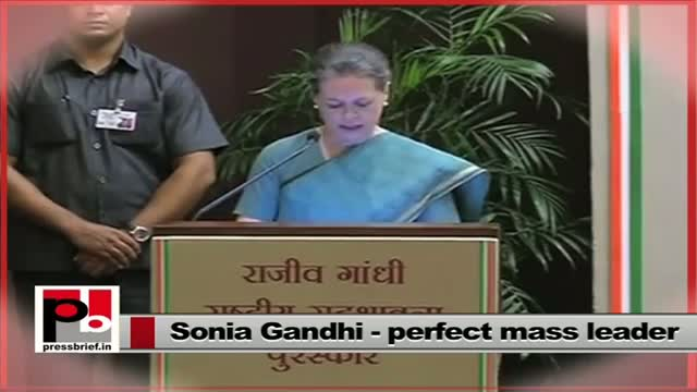 Sonia Gandhi follows the footsteps of great Congress leaders like Pt. Nehru