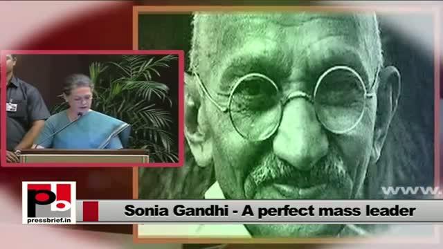 Sonia Gandhi recalls great Congress leaders