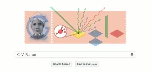 Google Doodle Celebrate C V Raman (Sir Chandrasekhara Venkata Raman) Birthday - 2013/11/7