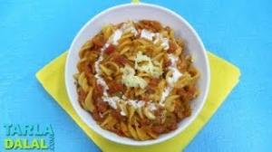 Pasta In Red Sauce by Tarla Dalal