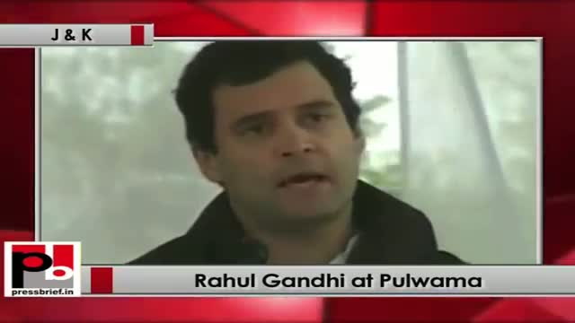 Rahul Gandhi in Pulwama (J&K) addresses gathering after inaugurating cold-storage factory