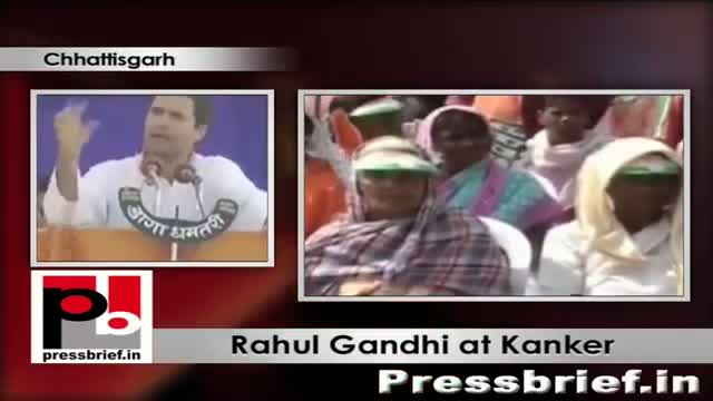 Rahul Gandhi addressing Congress rally at Kanker Chhattisgarh