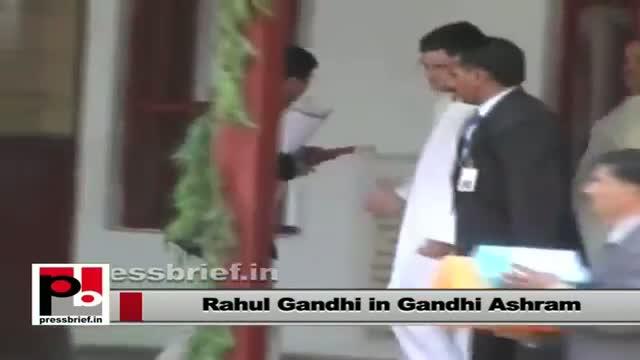 Rahul Gandhi paid his presence in Gandhi ashram