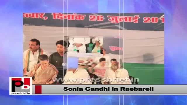 Sonia Gandhi in Rae Bareli to inaugurate Highway project