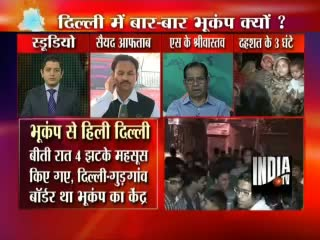 4 earthquakes rocks Delhi NCR, People spent night on roads