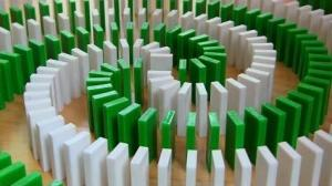 Amazing INSANE Domino Tricks