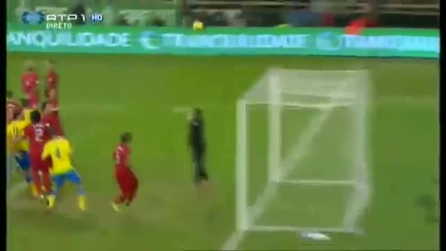 Portugal V.s Sweden 1-0 Cristiano Ronaldo Header Goles Highlights (FIFA World Cup Brazil 15/11/2013)