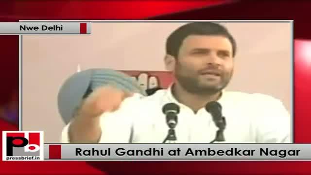 Rahul Gandhi at Ambedkar Nagar (New Delhi)