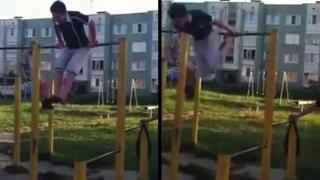 Guy Separates Both Shoulders In Playground Fail