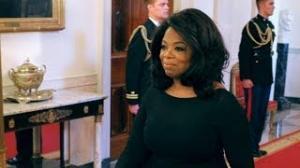 Oprah Winfrey Looks Slim in Black