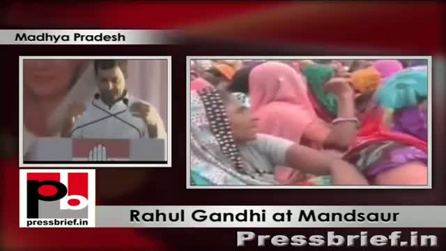 Rahul Gandhi in Mandsaur urges voters to oust BJP from Madhya Pradesh