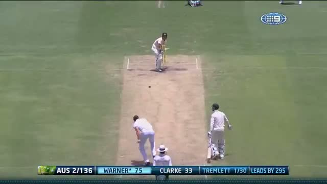 Commonwealth Bank Ashes Series 2013 1st Test: Warner brings up his first Ashes ton