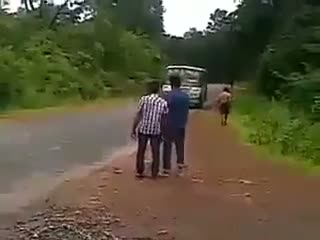 Funny Indian boys stopping a bus - Must watch - comedy video