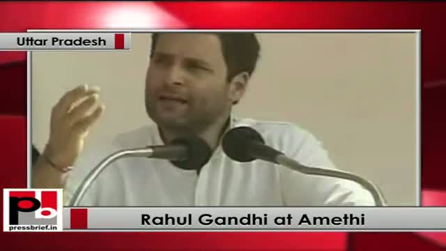 Rahul Gandhi in Amethi launches Railway projects; flags off new trains