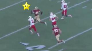 Running Back Runs Like He's Got A Super Mario Invincibility Star